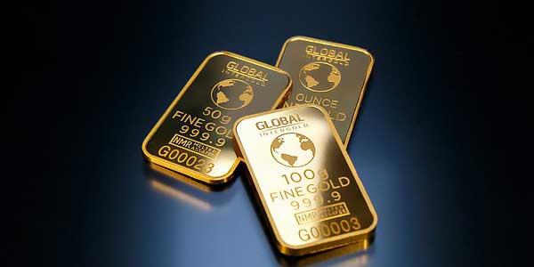 Barren mit Punze aus Gold
